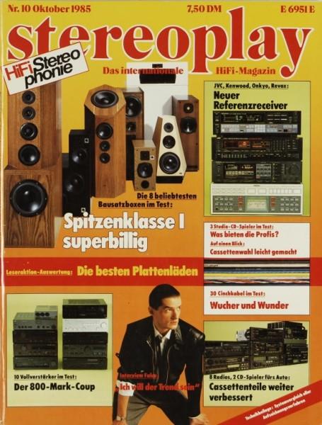 Stereoplay 10/1985 Zeitschrift