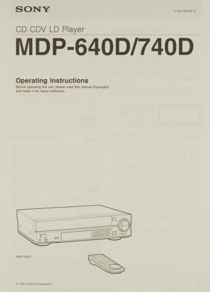 Sony MDP-640 D / 740 D Bedienungsanleitung