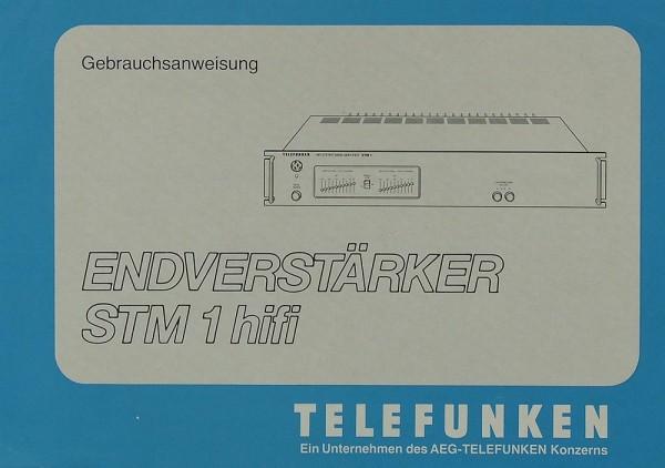 Telefunken STM 1 Hifi Bedienungsanleitung