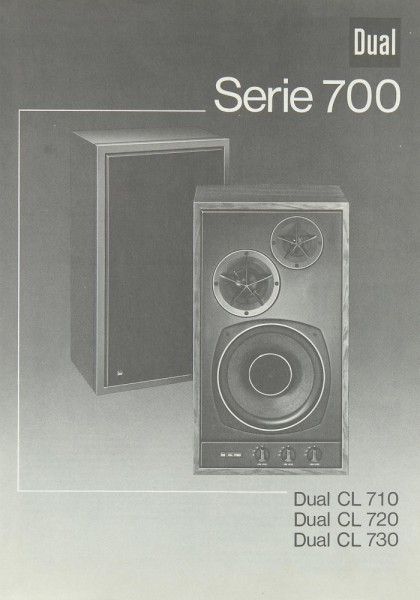 Dual CL 710 / CL 720 / CL 730 Bedienungsanleitung
