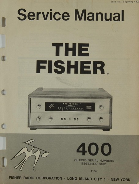 Fisher, The 400 Schaltplan / Serviceunterlagen