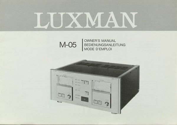 Luxman M-05 Bedienungsanleitung