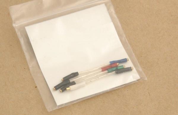 SME Silver Litz Headshellkabel 4er Set