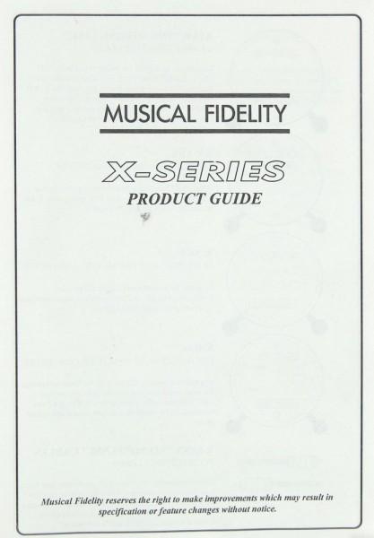 Musical Fidelity X-Series Prospekt / Katalog