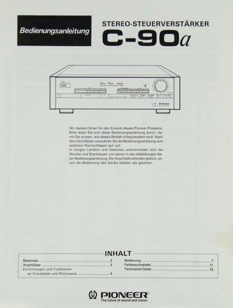Pioneer C-90 a Bedienungsanleitung