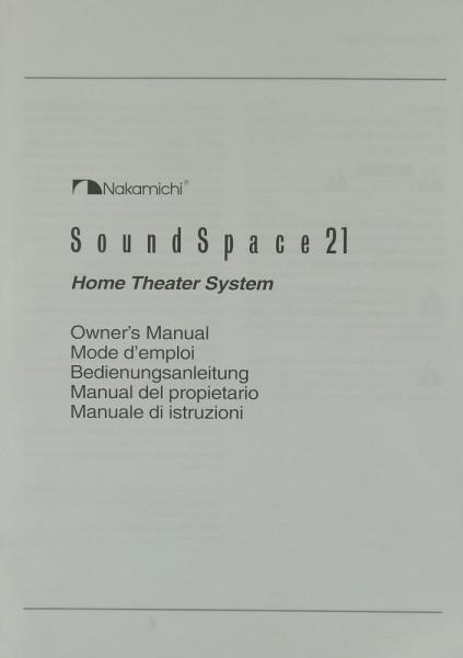 Nakamichi Sound Space 21 Bedienungsanleitung