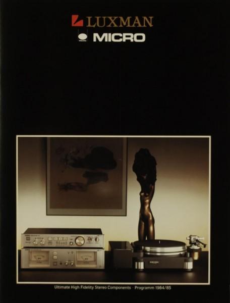 Luxman Micro / Programm 1984/85 Prospekt / Katalog