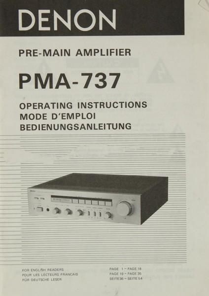 Denon PMA-737 Bedienungsanleitung