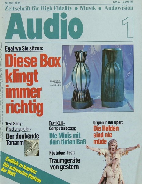 Audio 1/1980 Zeitschrift