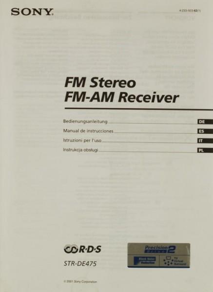 Sony STR-DE 475 Bedienungsanleitung