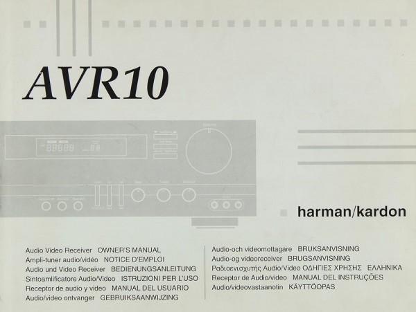 Harman / Kardon AVR 10 Bedienungsanleitung