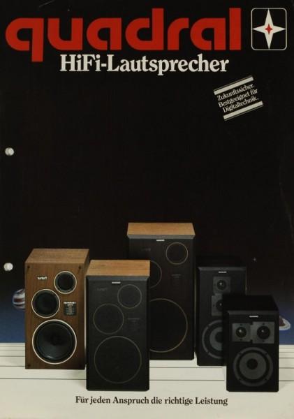 Quadral HiFi-Lautsprecher Prospekt / Katalog
