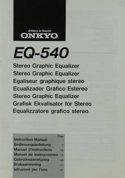 Onkyo EQ-540 Bedienungsanleitung