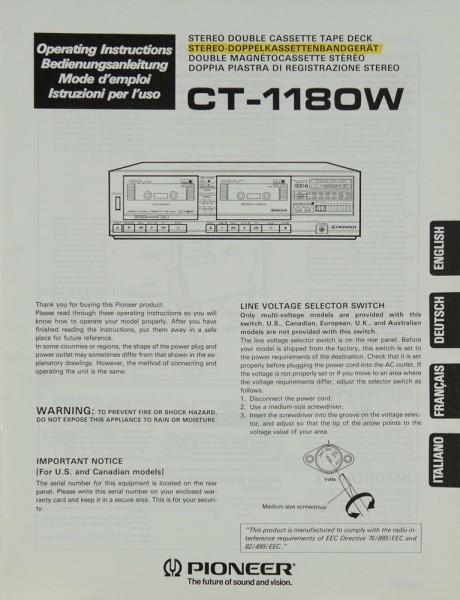 Pioneer CT-1180 W Bedienungsanleitung
