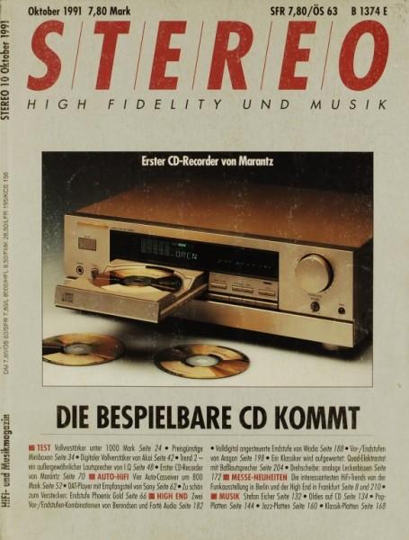 Stereo 10/1991 Zeitschrift