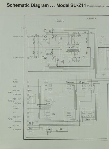 Technics Model SU-Z 11 Schaltplan / Serviceunterlagen
