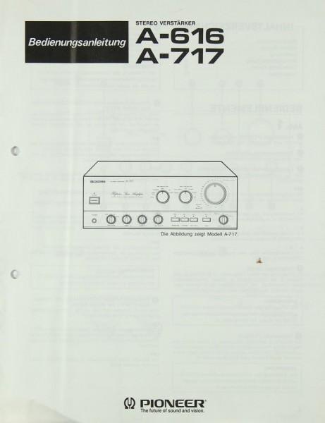Pioneer A-616 / A-717 Bedienungsanleitung