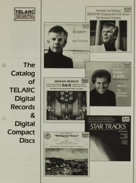 Telarc Catalog of Digital Records and Compact Discs Prospekt / Katalog