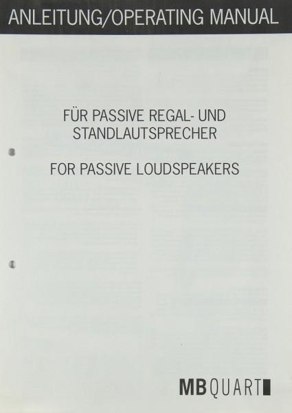 MB Quart Passiv-Lautsprecher Justageanleitung