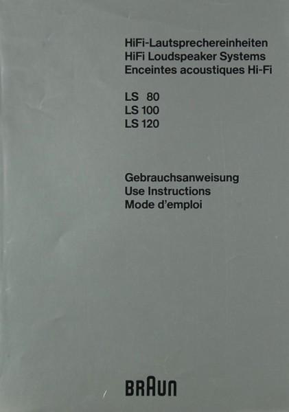Braun LS 80 / 100 / 120 Bedienungsanleitung