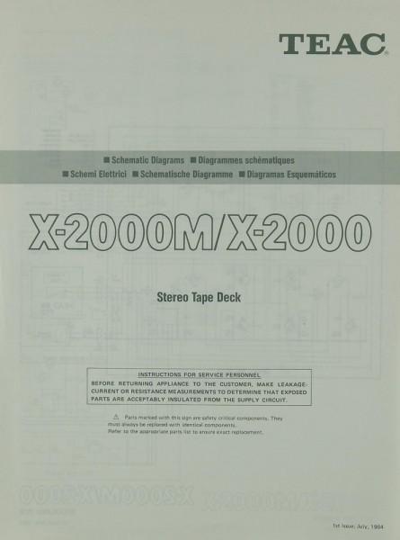 Teac X-2000 M / X-2000 Schaltplan / Serviceunterlagen