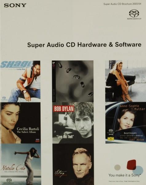 Sony Super Audio CD Hardware & Software Prospekt / Katalog