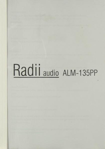 Radii Audio ALM-135 PPP Bedienungsanleitung