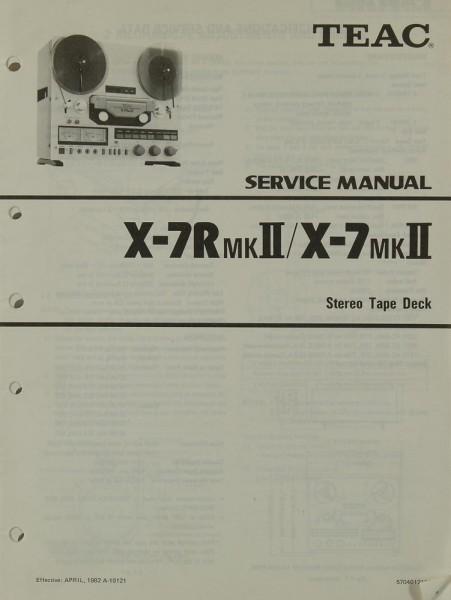 Teac X-7 R MK II / X-7 MK II Schaltplan / Serviceunterlagen