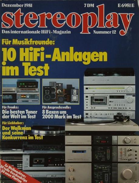 Stereoplay 12/1981 Zeitschrift
