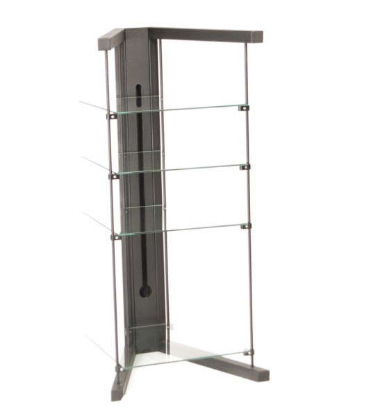 Designerrack Metall Glas
