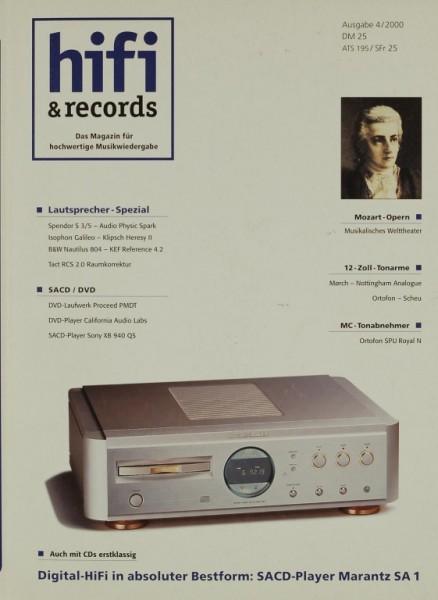 Hifi & Records 4/2000 Zeitschrift