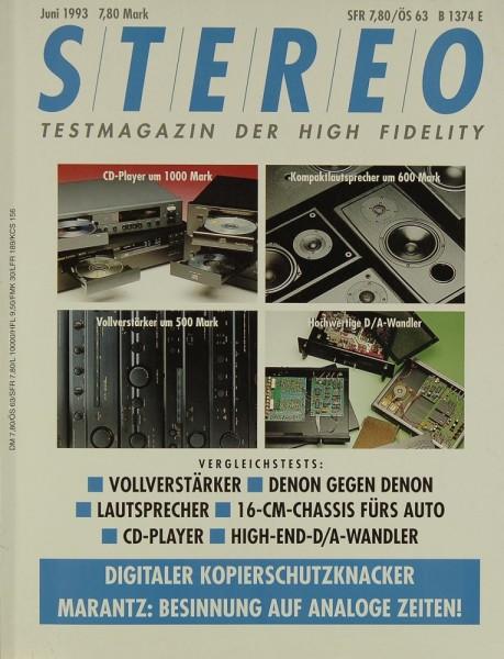 Stereo 6/1993 Zeitschrift