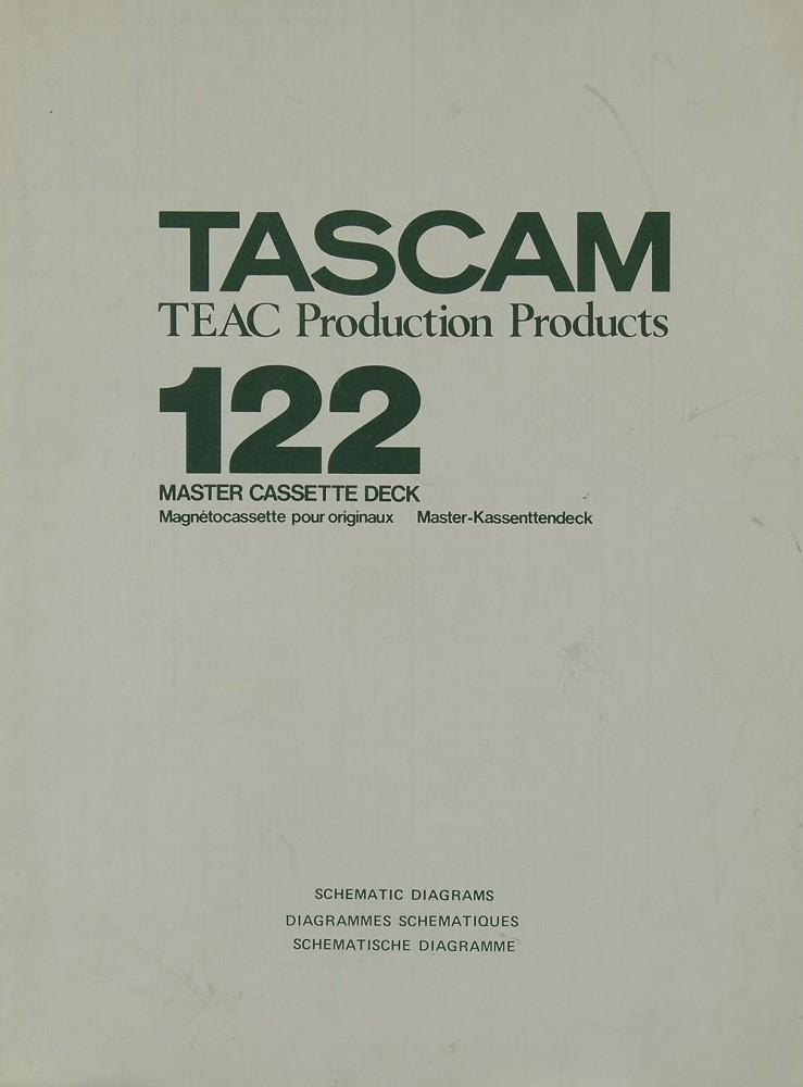 Tascam / Teac 122 Schaltplan / Serviceunterlagen | Tapedecks ...
