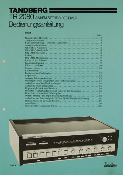 Tandberg TR 2080 Bedienungsanleitung