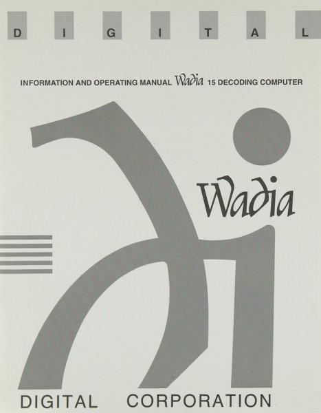 Wadia 15 Bedienungsanleitung