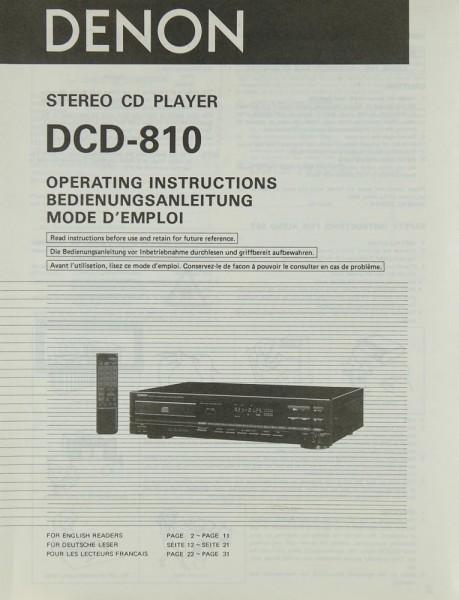 Denon DCD-810 Bedienungsanleitung