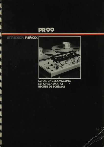 Revox PR 99 Schaltplan / Serviceunterlagen