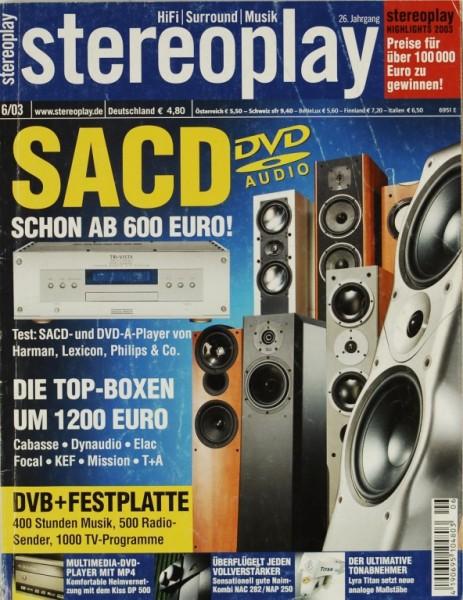 Stereoplay 6/2003 Zeitschrift