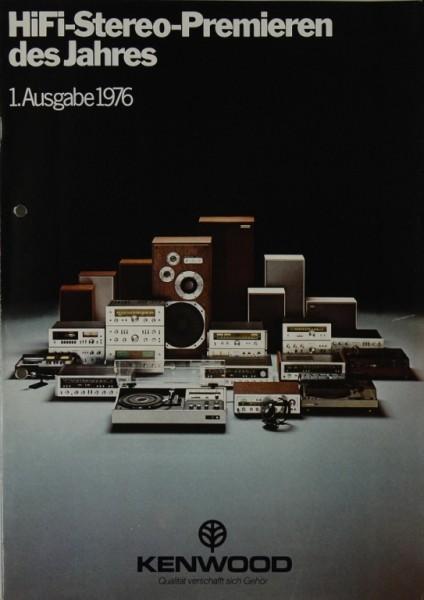 Kenwood Hifi-Stereo-Premieren 1. Ausgabe 1976 Prospekt / Katalog