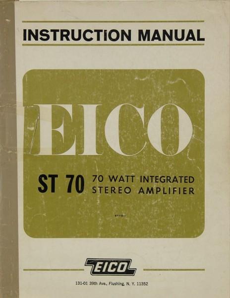 Eico ST 70 Bedienungsanleitung
