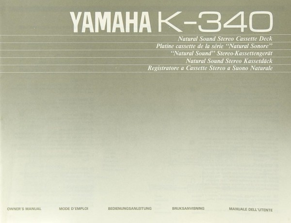 Yamaha K-340 Bedienungsanleitung