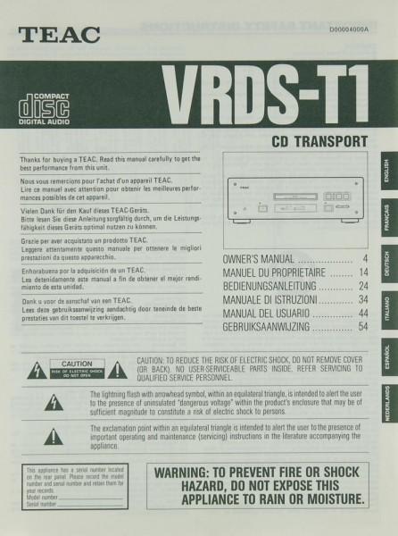 Teac VRDS-T 1 Bedienungsanleitung