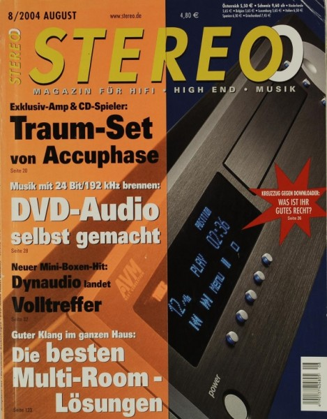 Stereo 8/2004 Zeitschrift
