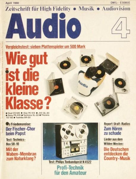 Audio 4/1980 Zeitschrift