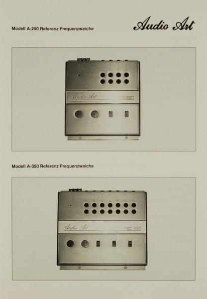 Audio Art Modell A-250 Referenz-Frequenzweiche Prospekt / Katalog