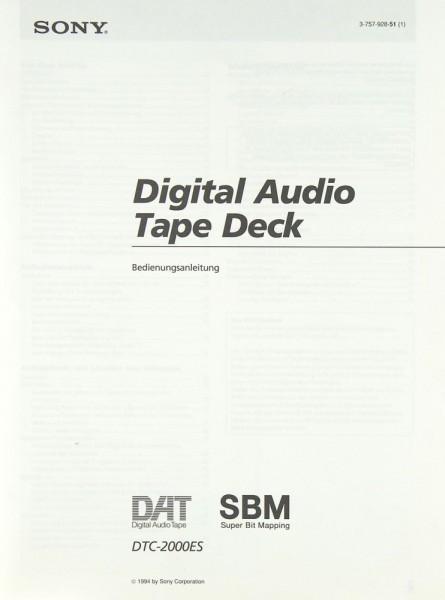 Sony DTC-2000 ES Bedienungsanleitung