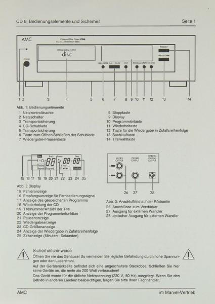 AMC CD 6 Bedienungsanleitung