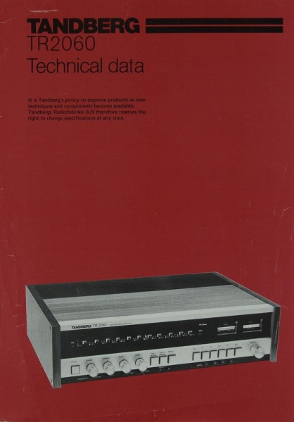 Tandberg TR 2060 Prospekt / Katalog