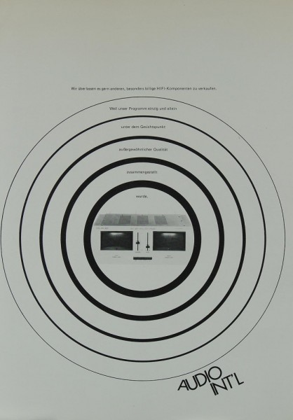 Verschiedene AUDIO INT´L Prospekt / Katalog
