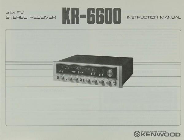 Kenwood KR-6600 Bedienungsanleitung